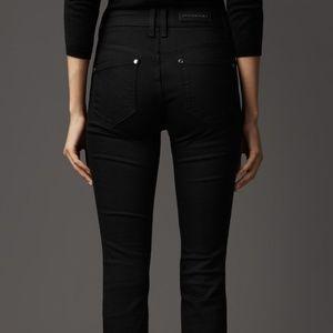 Burberry Milbourne Black Stretchy Skinny Jeans